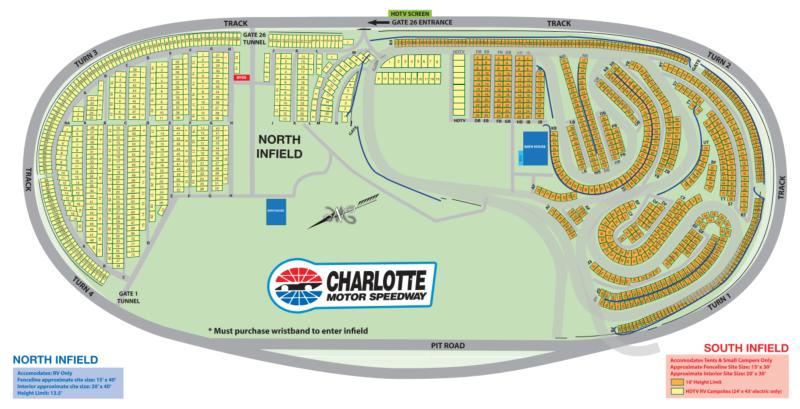 Maps Camping Charlotte Motor Speedway