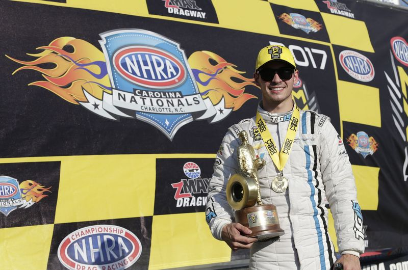 Denver, North Carolina, native Tanner Gray captured his fifth career Pro Stock victory on Sunday in the NHRA Carolina Nationals at zMAX Dragway.