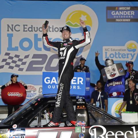 Kyle Busch won his sixth straight Gander Trucks race on Friday.