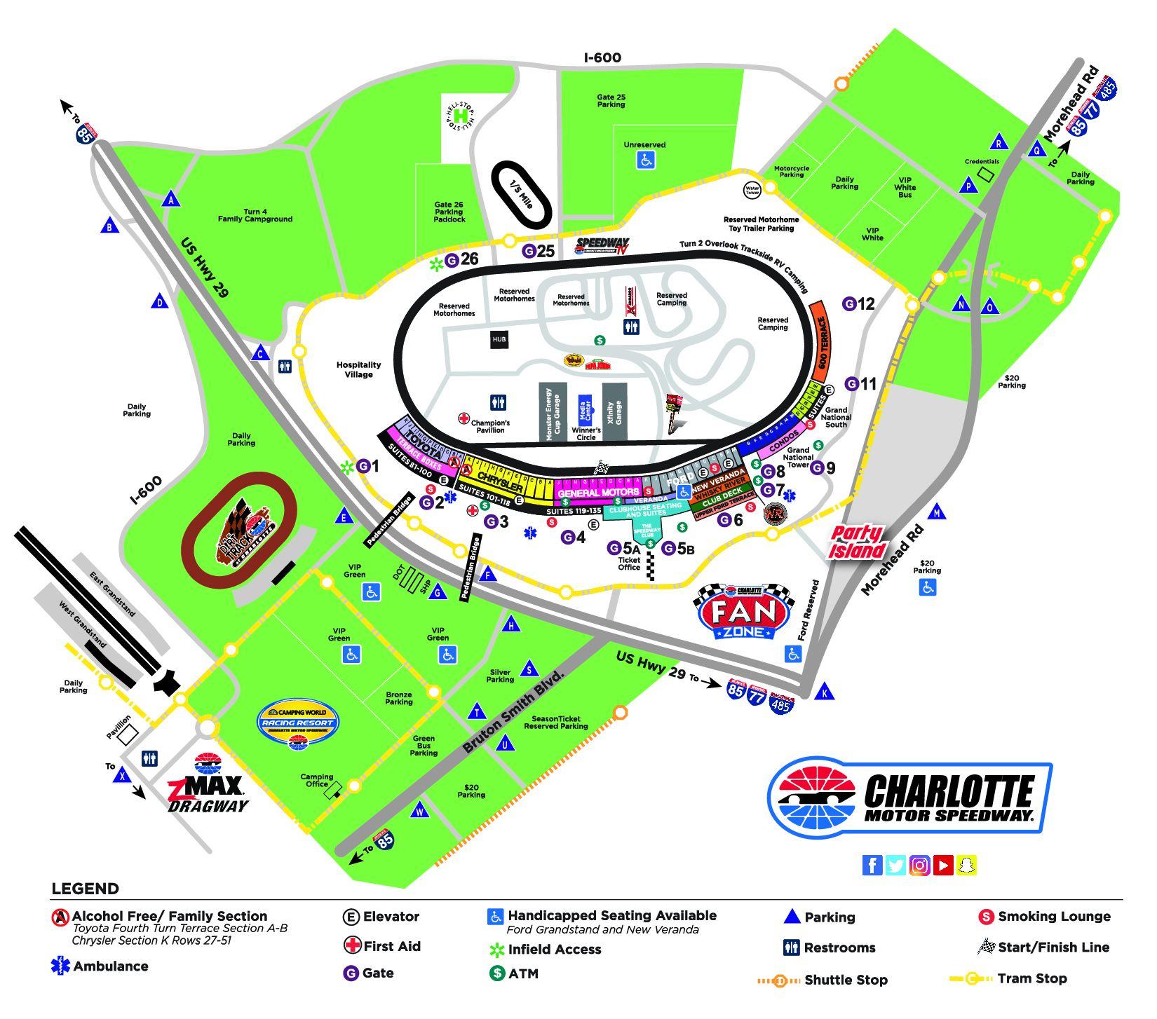 Fan Tips Fan Info Charlotte Motor Speedway