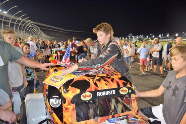 Race fans attending Tuesday's season finale of the Bojangles' Summer Shootout at Charlotte Motor Speedway can meet drivers in an autograph session, watch a school bus race among area clergy and witness a spectacular fireworks show following seven divisions of feature races.