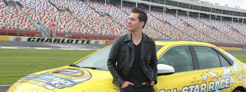 Triple-platinum recording artist Andy Grammer checked out Charlotte Motor Speedway Tuesday before his concert on May 21.