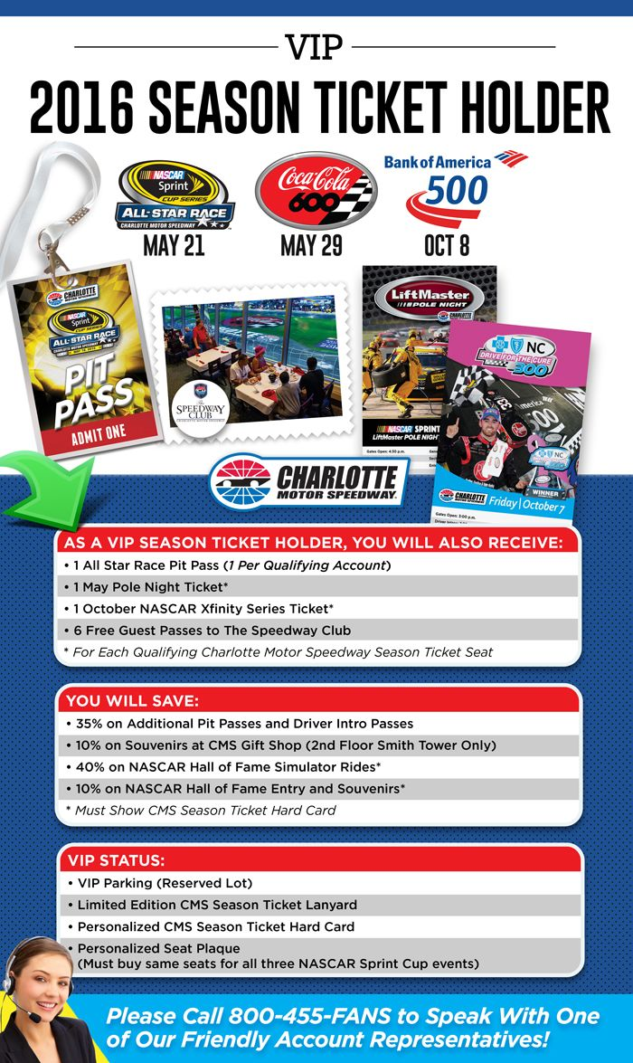 Season Ticket Tickets Events Charlotte Motor Speedway
