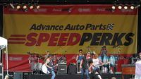 Country music star Lee Brice performs during the Coca-Cola 600 pre-race concert presented by Advance Auto Parts SpeedPerks at the Coca-Cola 600 at Charlotte Motor Speedway.