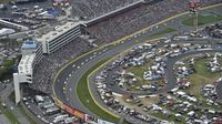 A general view of the race action during the Coca-Cola 600 at Charlotte Motor Speedway.