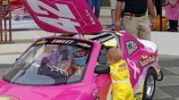 Katelyn Sweet, girlfriend of NASCAR driver Kyle Larsono during Thursday's Bojangles' Pole Night at Charlotte Motor Speedway.