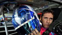 Elliott Sadler prepapres for a practice run during Thursday's Bojangles' Pole Night at Charlotte Motor Speedway.