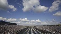 A general view of Saturday's qualifying action at the NHRA Carolina Nationals at zMAX Dragway.
