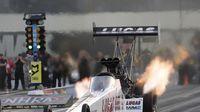 Richie Crampton during opening-day qualifying at the NHRA Carolina Nationals at zMAX Dragway.
