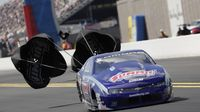 Jason Line slows at the top end during Saturday's qualifying action at the NHRA Carolina Nationals at zMAX Dragway.