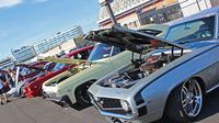 Muscle cars on full display during opening day of the 22nd annual Goodguys Southeastern Nationals at Charlotte Motor Speedway.