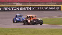 Akinori Ogata leads Danny Cisson through Turn 2 during Round 6 of the Bojangles' Summer Shootout at Charlotte Motor Speedway.