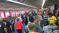 The vendor midway (Sprint Cup Series garage) was a busy place during opening day of the 22nd annual Goodguys Southeastern Nationals at Charlotte Motor Speedway.