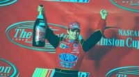 After capturing his third win at The Winston at Charlotte Motor Speedway, Jeff Gordon celebrates in Victory Circle.