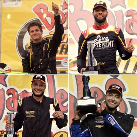 Carson Ferguson, Bubba Wallace, Joey Padgett and Ryan Mackintosh are four Boston Reid Real Estate drivers who have secured victories in the first five nights of the Bojangles' Summer Shootout at Charlotte Motor Speedway.